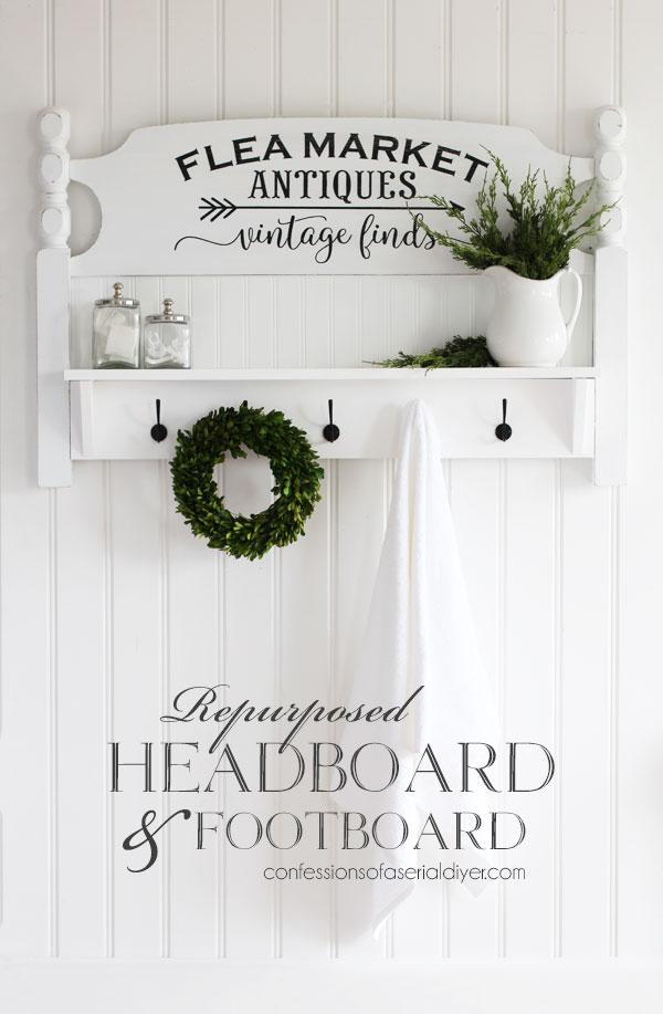 How to turn a headboard into an awesome shelf
