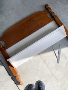 How to turn a headboard into a shelf