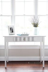 Whitewashed thrift store desk