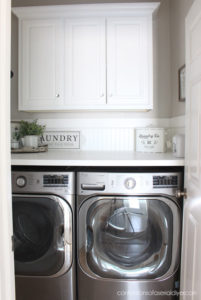 Laundry room makeover with new counter.
