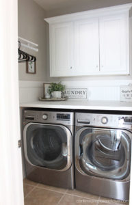 How to add a folding counter over your front loading washer and dryer.