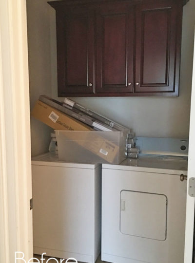 Laundry Room Makeover with Bead Board and Folding Counter