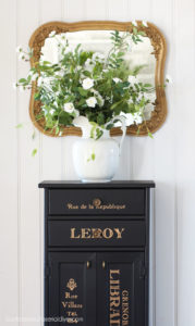 Black painted cabinet