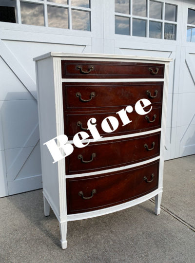 $25 Thrift Store Dresser in Bay Breeze