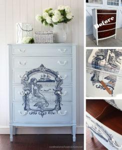 Dresser painted in Silk Bay Breeze