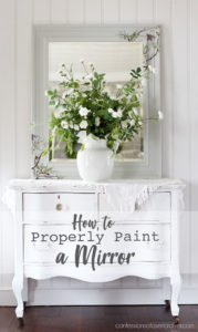 How to Properly Paint a Mirror