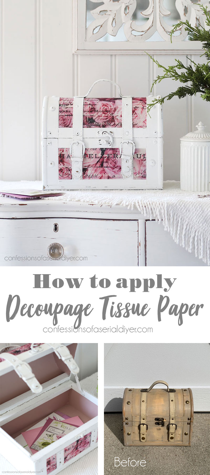 How to Apply Decoupage Tissue Paper