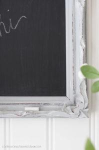 Turn a frame into a mini chalkboard