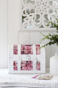 How to add decoupage tissue paper