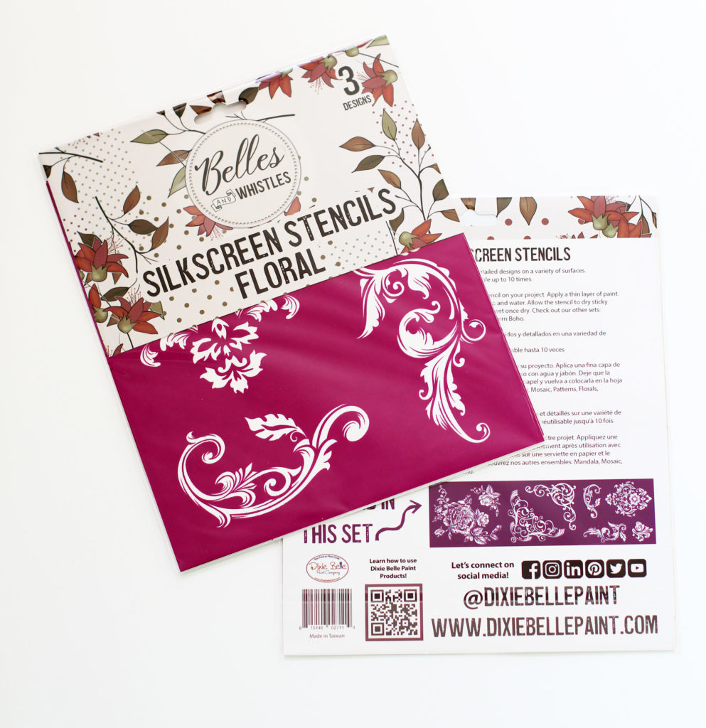 Belles and Whistles Silkscreen stencil Florals
