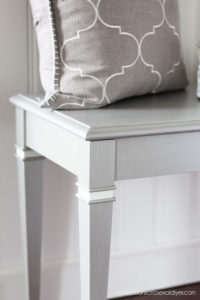 Piano Bench painted in Silver Bullet