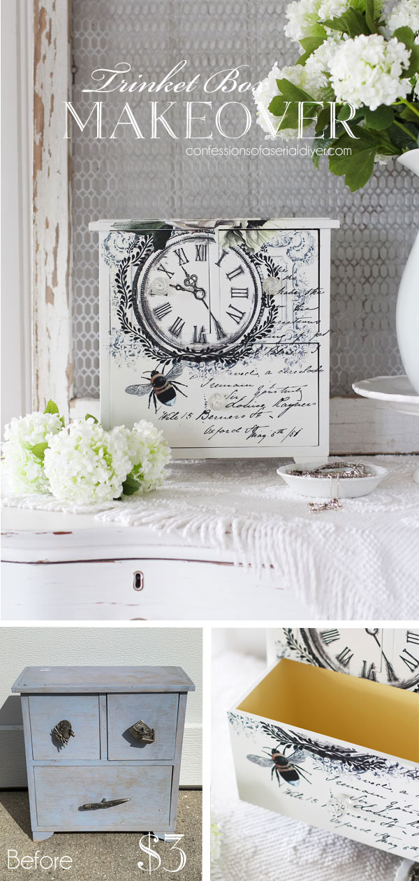Trinket Box Makeover with Silk Salt Water