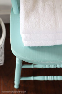Aqua painted chair