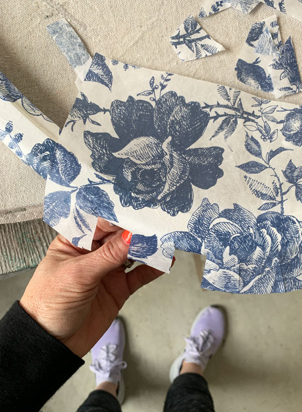 How to use decoupage paper