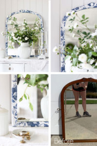 How to decoupage a Mirror