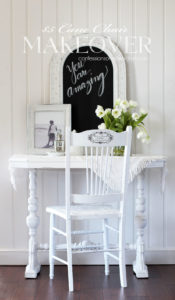 Painted Cane Chair