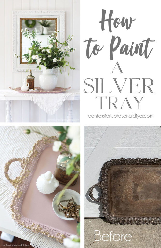 How to paint a silver tray
