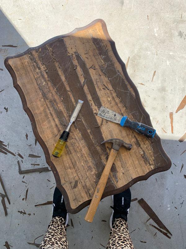 How NOT to remove veneer