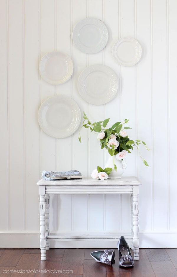 Table Makeover with Transfer and Wax