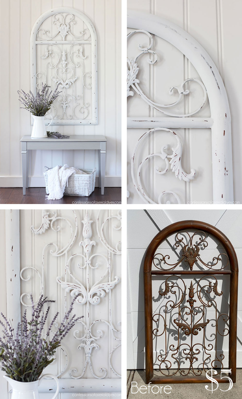 Painted Metal Arch Wall Decor