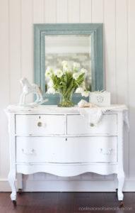 Mirror painted in Vintage Duck Egg Blue