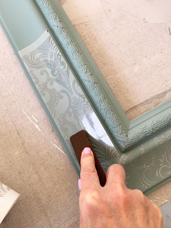 Adding a transfer to a mirror frame