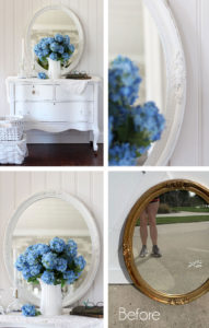 How to paint a plastic mirror