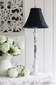 Lamps updated with decoupage paper