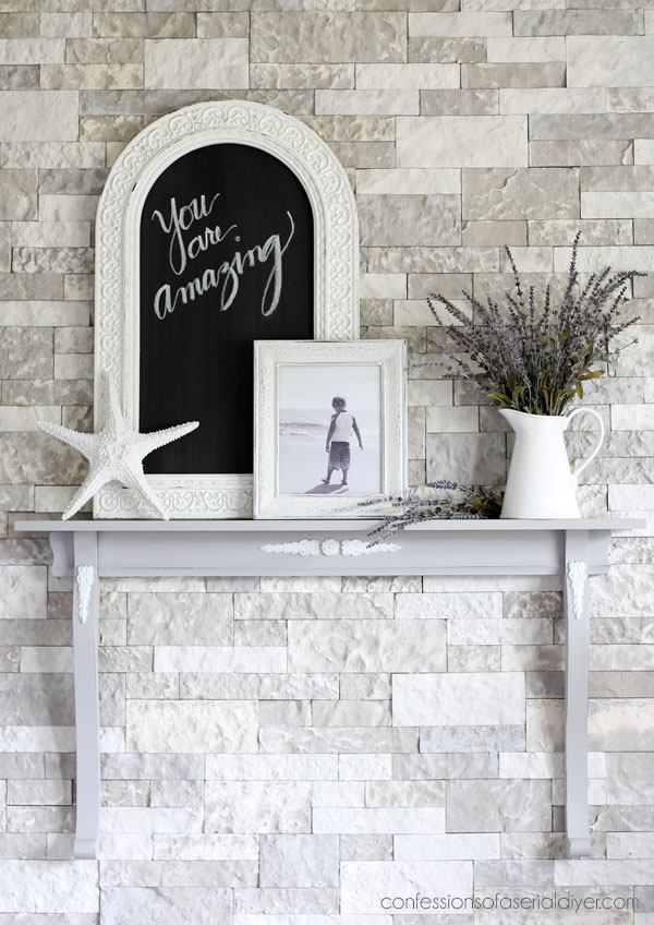 Mirror Harp Repurposed as a Shelf