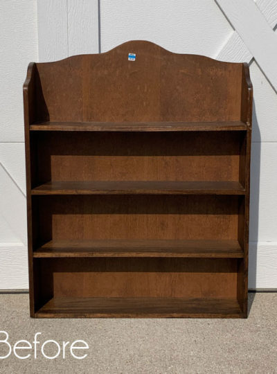 $6 Thrift Store Shelf Makeover with Transfer