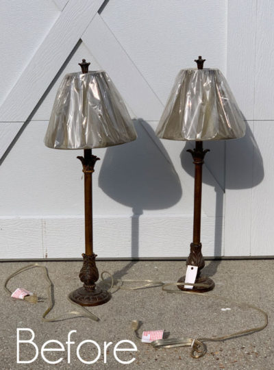 $5 Buffet Lamps Updated with Decoupage Paper