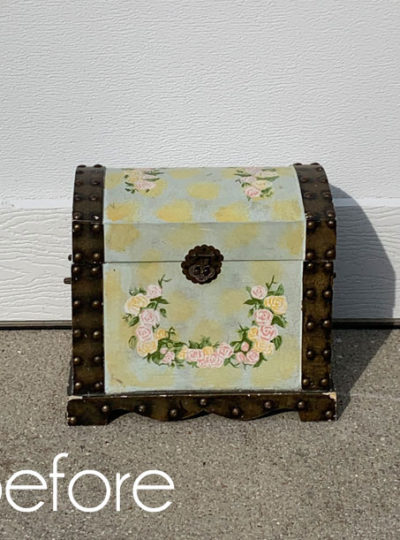 Update a Thrift Store Box with Fabric!