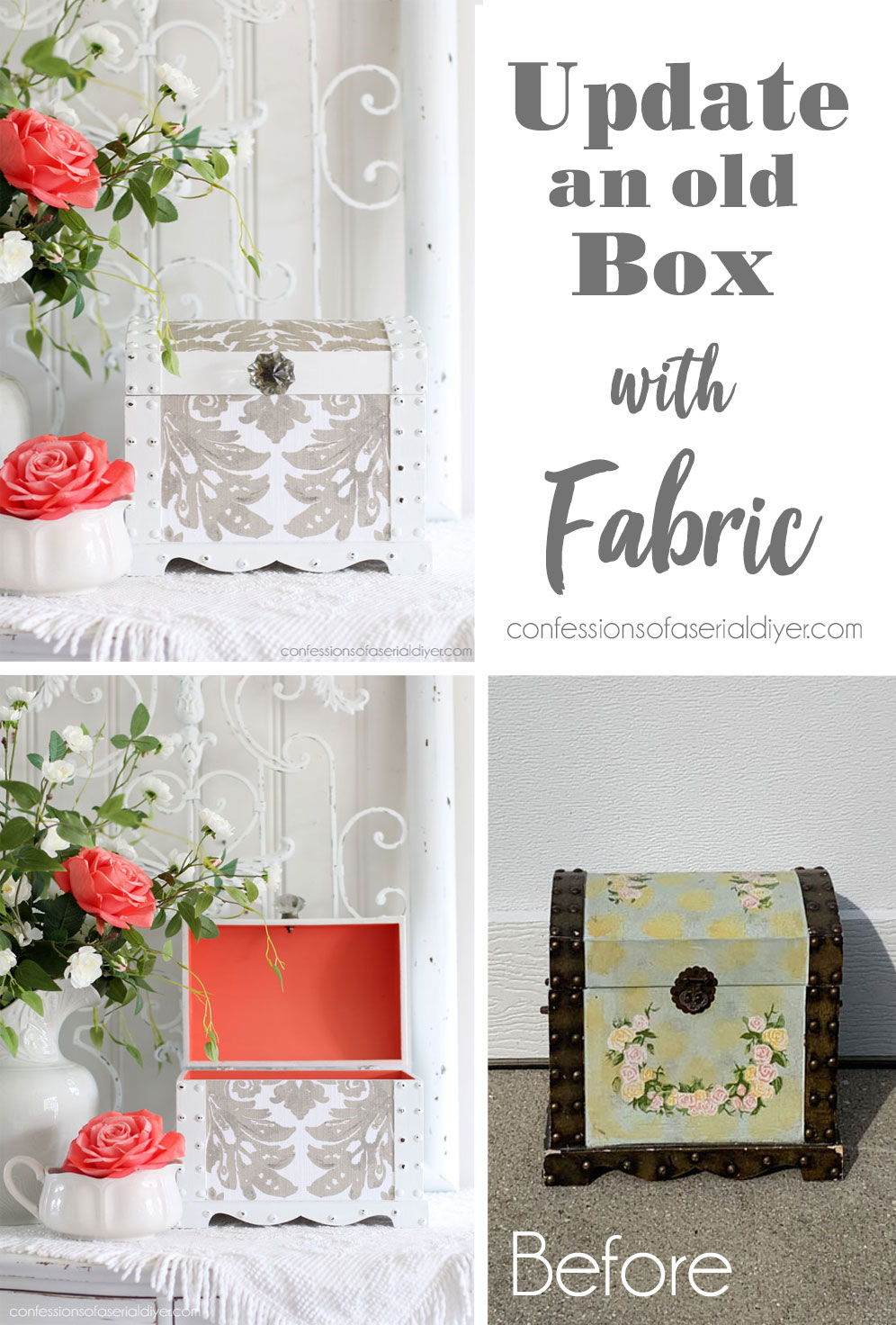 Update an old box with paint and fabric!