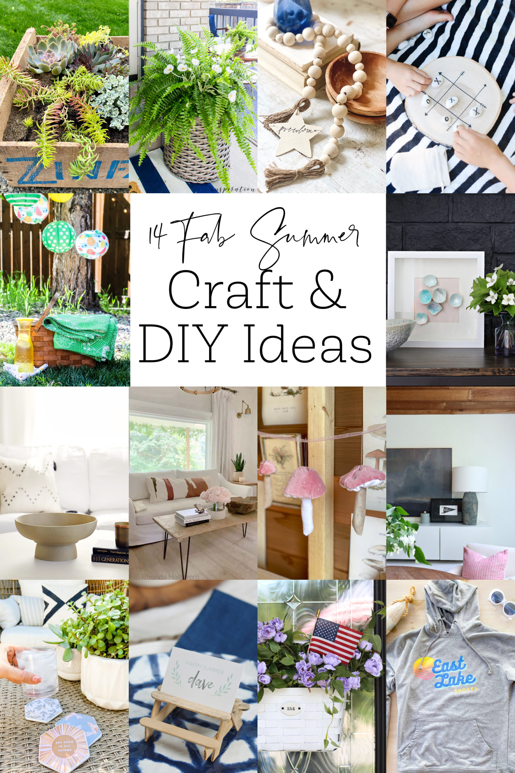 14 Fabulous Summer Crafts and DIY ideas