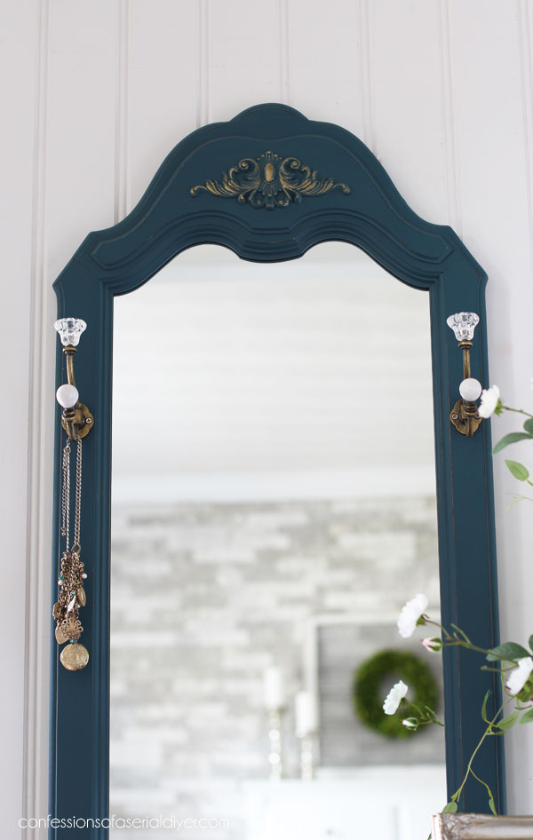 Mirror embellished with Prima Decor Moulds