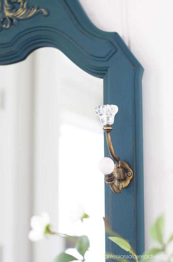 Mirror painted in Antebellum Blue