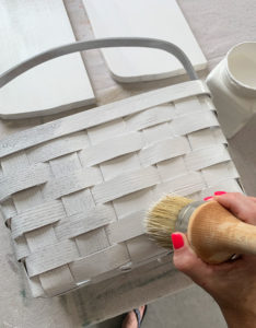 The best dang brush is great for painting baskets!