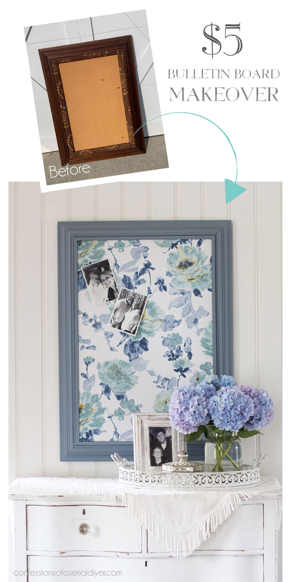 How to cover a bulletin board with fabric