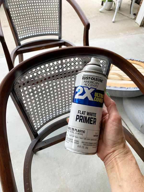 Spray prime cane to prep before painting!