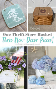 Turn an old basket into three new decor pieces!