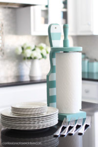 Painted paper towel holder