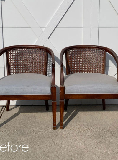 Updated Vintage Cane Club Chairs