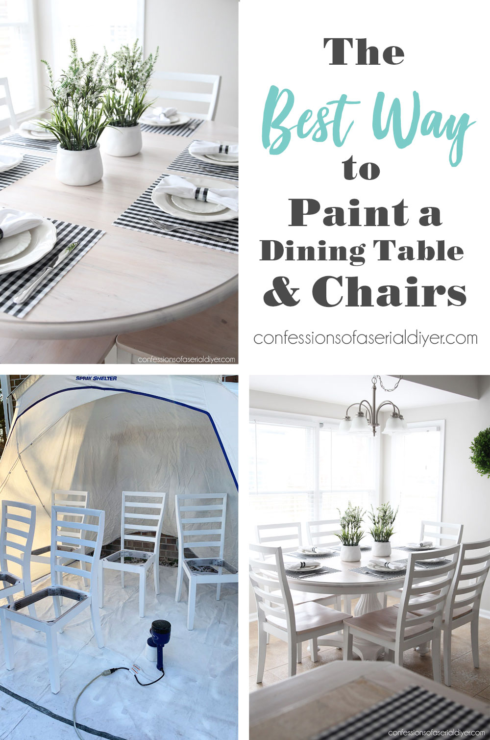 The Best Way to Paint a Dining Table and Chairs