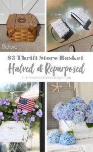 Summer basket wreath
