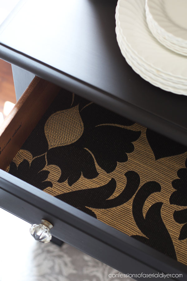 Gold and Black Fabric
