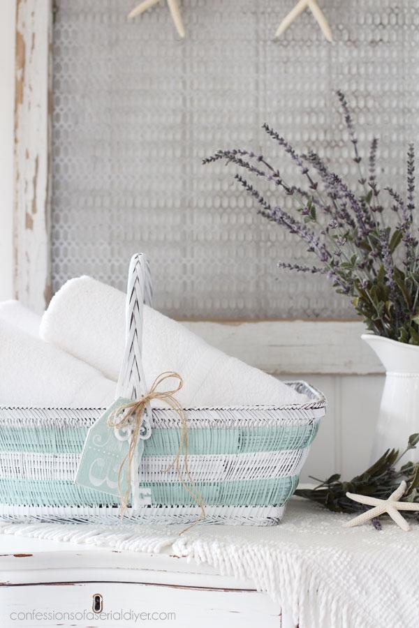 add stripes to a basket
