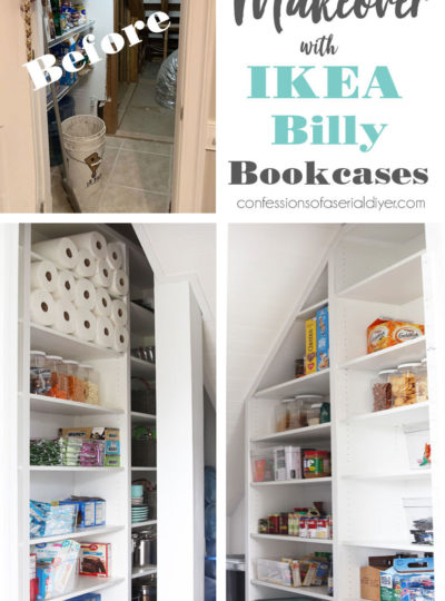 IKEA Billy Pantry Makeover