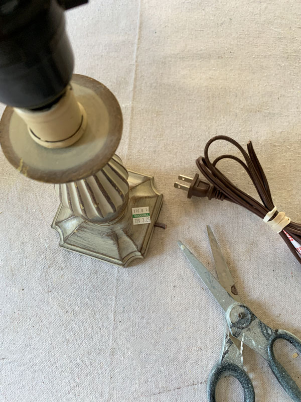 How to Repurpose an Old Lamp