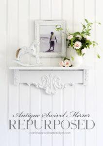 swivel mirror turned shelf