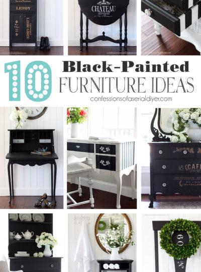 10 Black Painted Furniture Ideas
